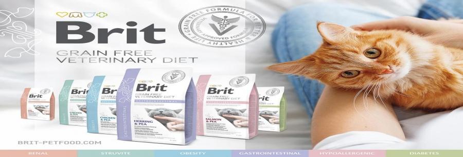Ветеринарные диеты для кошек Brit VD CAT GRAIN FREE