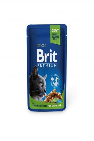 Брит премиум Пауч д/кошек Chicken Slice for Sterilized Курица для стерилизов.кошек, 100г