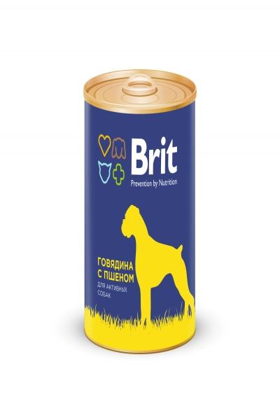 Брит Консервы д/собак Brit Premium BEEF&MILLET Говядина и пшено, 850г
