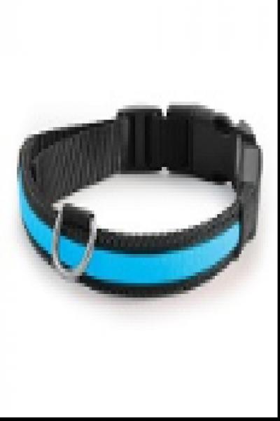 LD07XL Ошейник светодиодный синий, 25*510-610мм