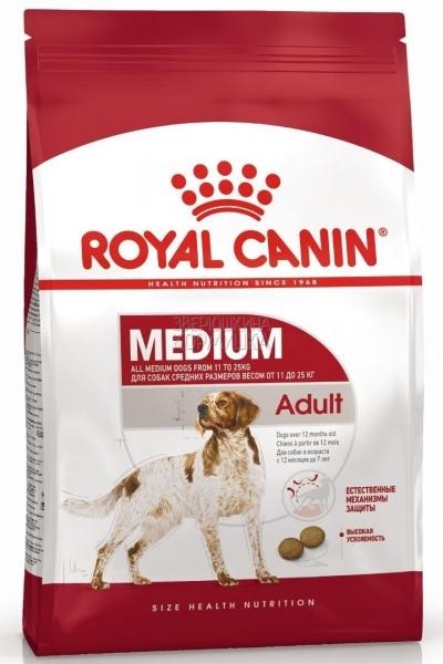 Medium Adult корм для взрослых собак средних пород Royal Canin