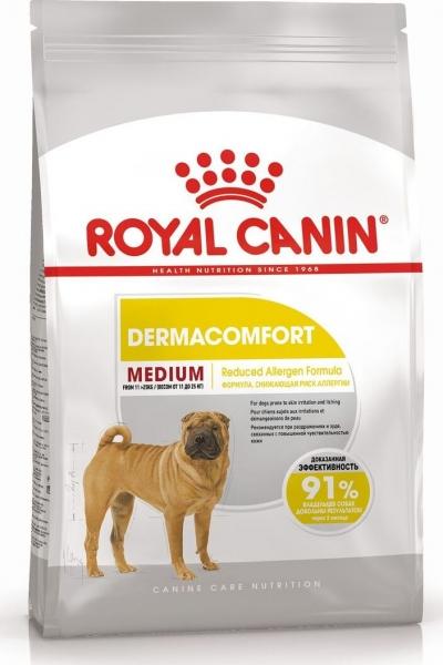 Medium Dermacomfort корм для собак с чувствительной кожей Royal Canin