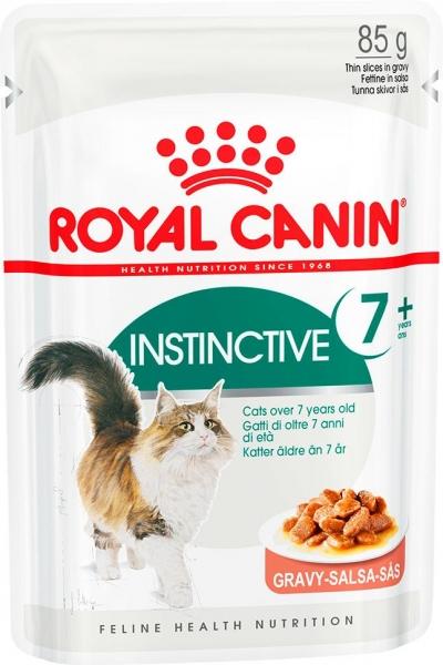 INSTINCTIVE +7 in GRAVY, кусочки в соусе Royal Canin