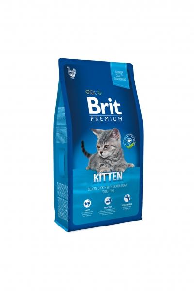 NEW Premium Cat Kitten с курицей в лососевом соусе д/котят