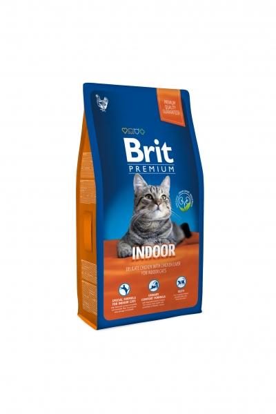 NEW Premium Cat Indoor курица и печень д/кошек, домаш. Содержания