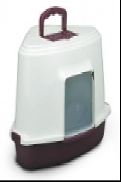 LB03 Туалет для кошек закрытый угловой (совок в комплекте), 565*425*400мм