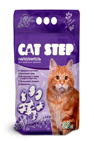 Наполнитель для кошачьих туалетов Cat Step Лаванда