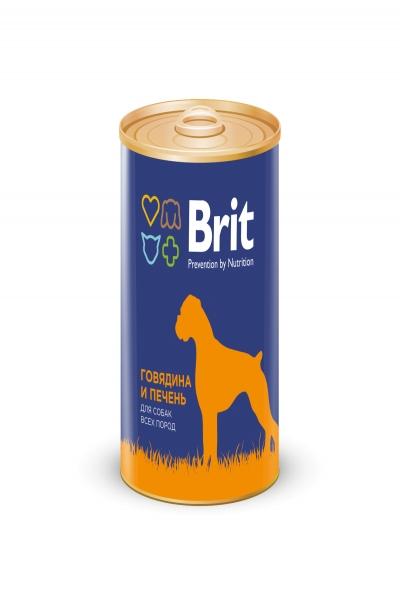Брит Консервы д/собак Brit Premium RED MEAT&LIVER Говядина и печень, 850г