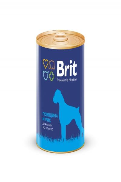 Брит Консервы д/собак Brit Premium BEEF&RICE Говядина и рис, 850г