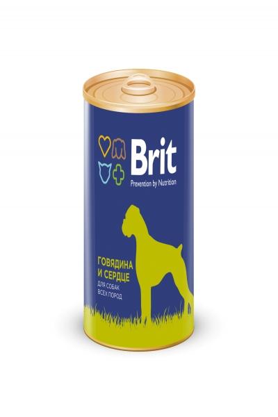 Брит Консервы д/собак Brit Premium BEEF&HEARТ Говядина и сердце, 850г