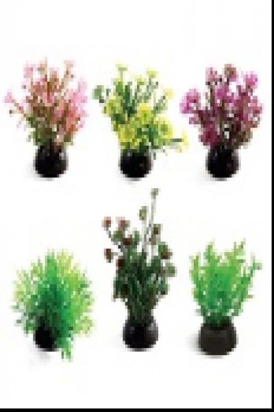 Растения 1143LD, (набор 6 штук),  50мм, (пакет)