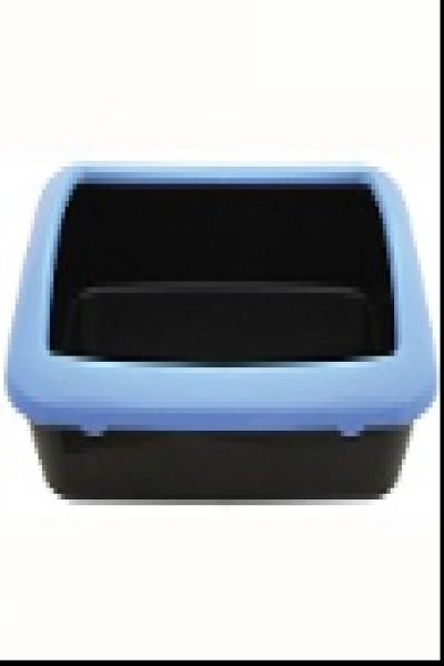 P547 Туалет для кошек прямоугольный с бортом, 420*300*145мм