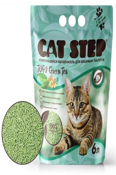 Наполнитель для кошачьих туалетов Cat Step Tofu Green Tea